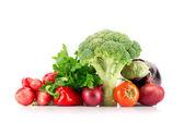 různé zralé zeleniny