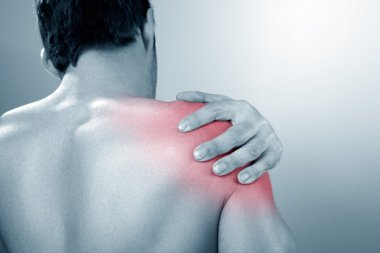 Man suffers from Shoulder pain