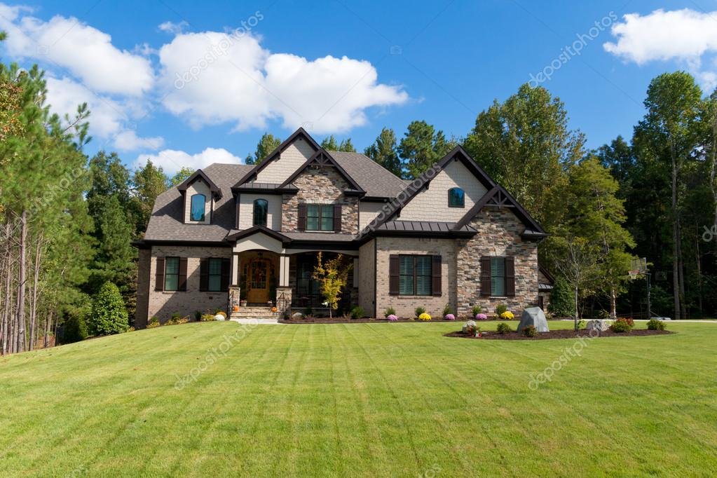 Large Suburban House Stock Editorial Photo Kzlobastov