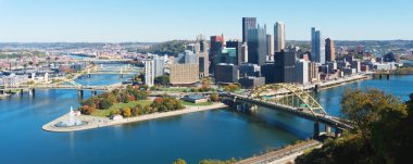 Panoramic view on Pittsburgh, PA