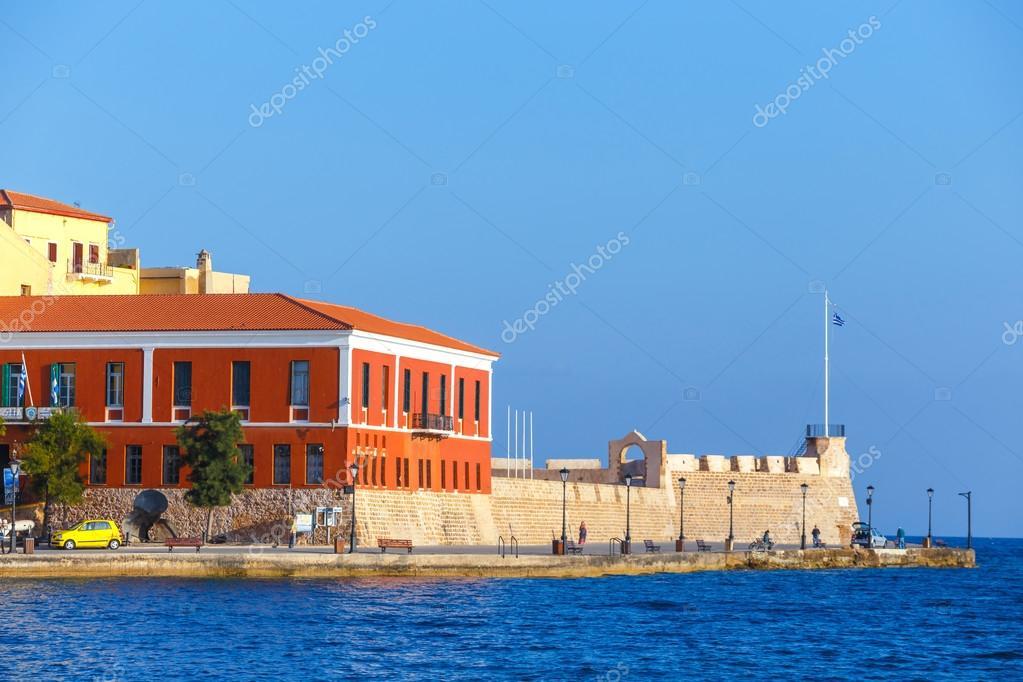 Chania Kreta 25 Maj 2016 Morgen Blick Auf Den Alten Hafen Von