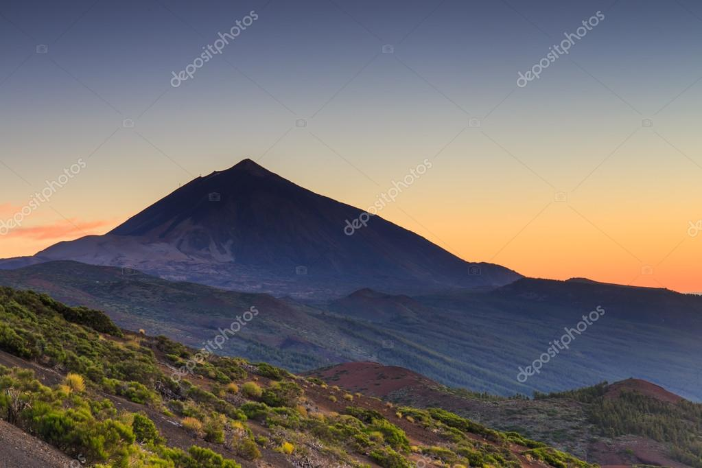 Sunset over Teide volcano, Tenerife, Canary Islands, Spain