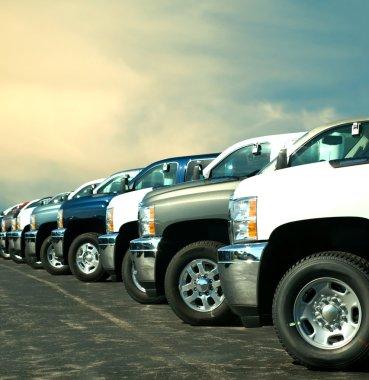 trucks at dealership
