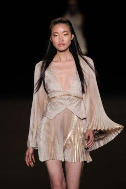Model walks the runway at the Meskita fashion
