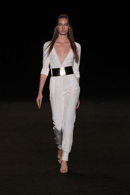 Model walks the runway at the Meskita fashion show