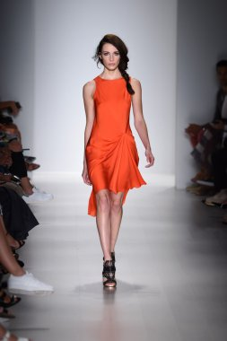 Model walks the runway at Marissa Webb during Mercedes-Benz Fashion Week Spring 2015