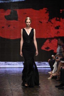 Model walks the runway at Donna Karan New York show