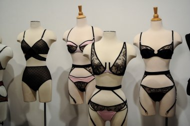 Lingerie samples on mannequins during Spring 2015 lingerie showcase presentation