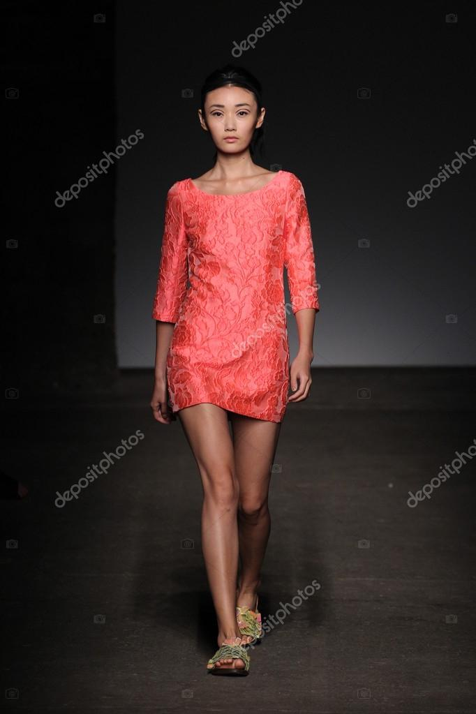 Tracy Reese Durante O Mercedes Benz Fashion Week U2014 Fotografia De Stock