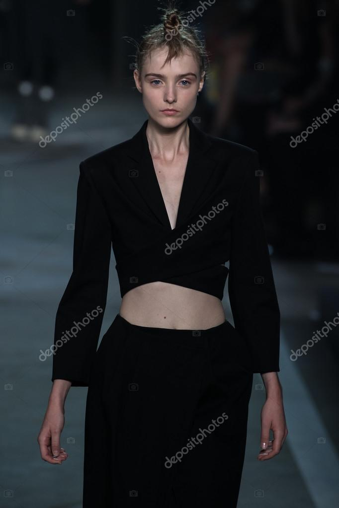 ... Morta Kontrimaite walks the runway at the Marc By Marc Jacobs fashion show ...