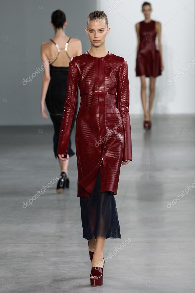 Model walk the runway at the Calvin Klein Collection fashion show