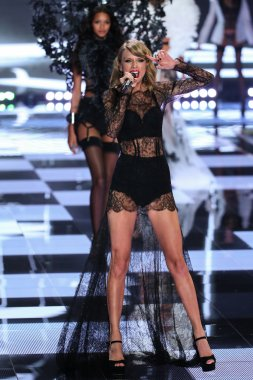 Taylor Swift during the 2014 Victoria's Secret Fashion Show