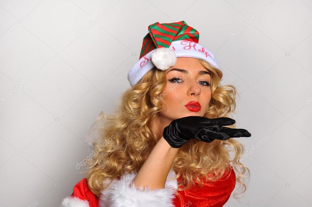 helper brunette santa Sexy