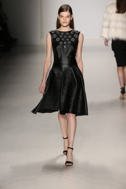 Tadashi Shoji show during Mercedes-Benz Fashion Week Fall