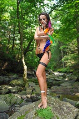 model wearing bikini
