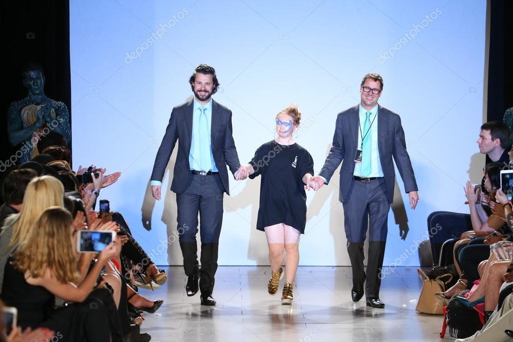 manhattan designers mobel NEW YORK, NY - SEPTEMBER 13: Model Madeline Stuart and designers walk  Hendrik Vermeulen runway at the FTL Moda Spring 2016 during NYFW at  Vanderbilt Hall at ...