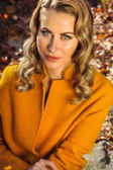 Fotografie Schöne Frau im Herbst Mantel