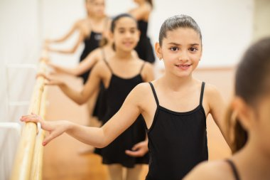 Latin girls enjoying  dance classe