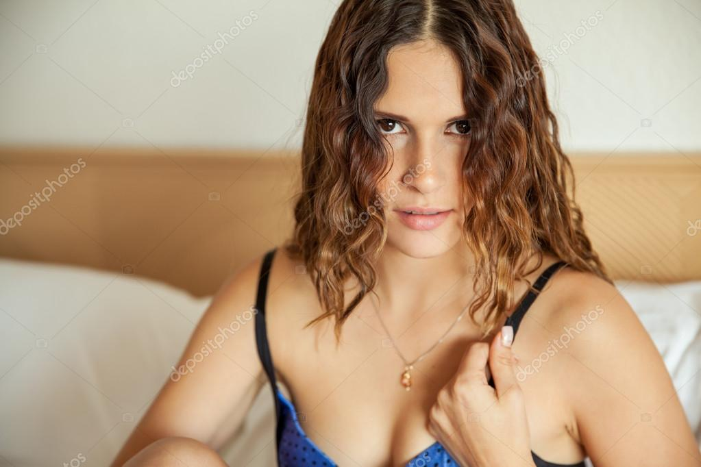 A girl in her bra authoritative