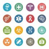 Fényképek Orvosi  egészségügyi ikonok beállítása 1 - Dot-sorozat