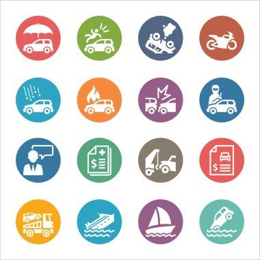 Auto Insurance Icons - Dot Series