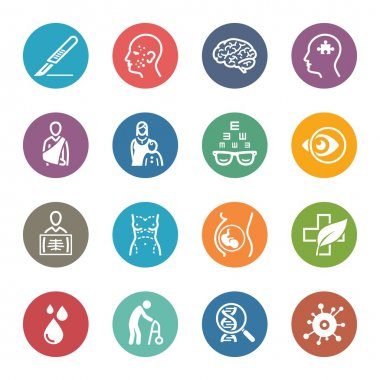 Medical & Health Care Specialties Icons Set 2 - Dot Series