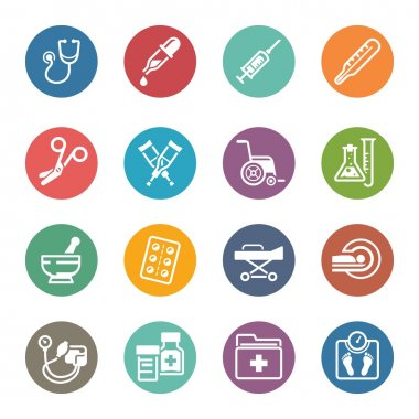 Medical Equipment & Supplies Icons - Dot Series