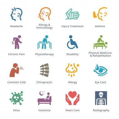 Health Conditions & Diseases Icons - Sympa Series | Colored