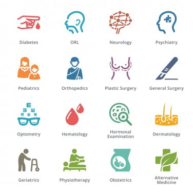 Medical Specialties Icons Set 2 - Sympa Series | Colored