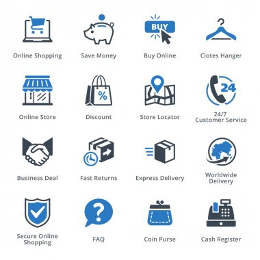 E-commerce Icons Set 5 - Blue Series
