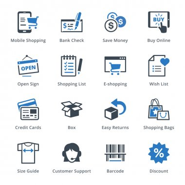 E-commerce Icons Set 3 - Blue Series