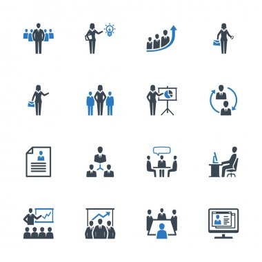 Business Management Icons Set 1 - Blue Series
