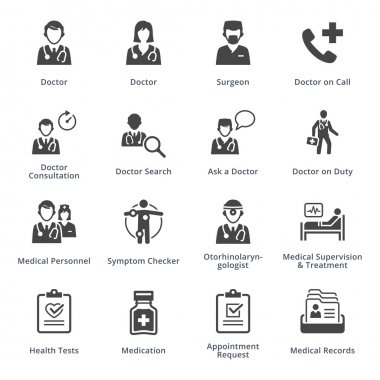 Medical Services Icons Set 3 - Black Series