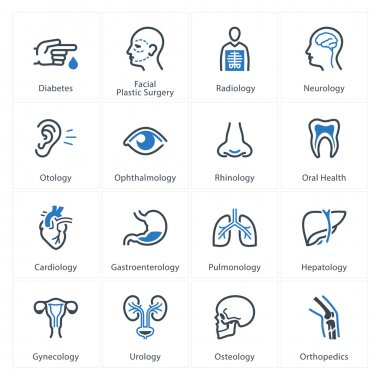 This set contains Medical & Health Care Icons that can be used for designing and developing websites, as well as printed materials and presentations. stock vector