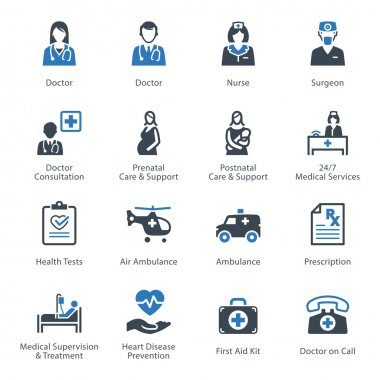 Medical & Health Care Icons Set 1 - Services