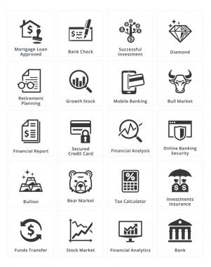 Personal & Business Finance Icons - Set 1