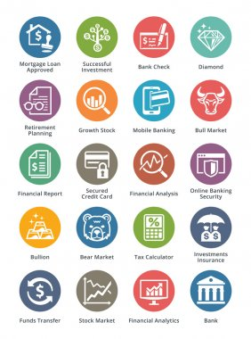 Personal & Business Finance Icons Set 1 - Dot Series
