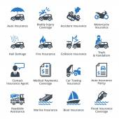 Auto Insurance Icons - Blue Series