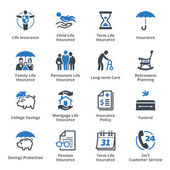 Photo Life Insurance Icons - Blue Series