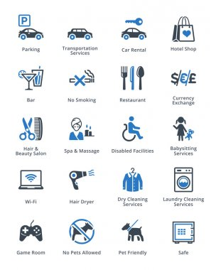 Tourism & Travel Icons Set 3 - Blue Series
