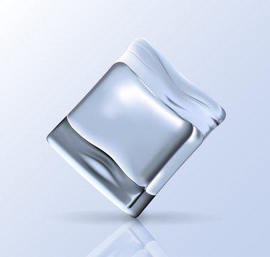Clear vector ice cube