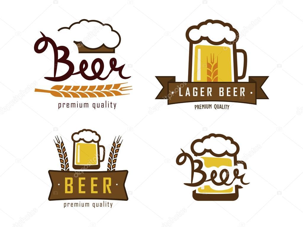 Logotipos De Cerveja De Vetor