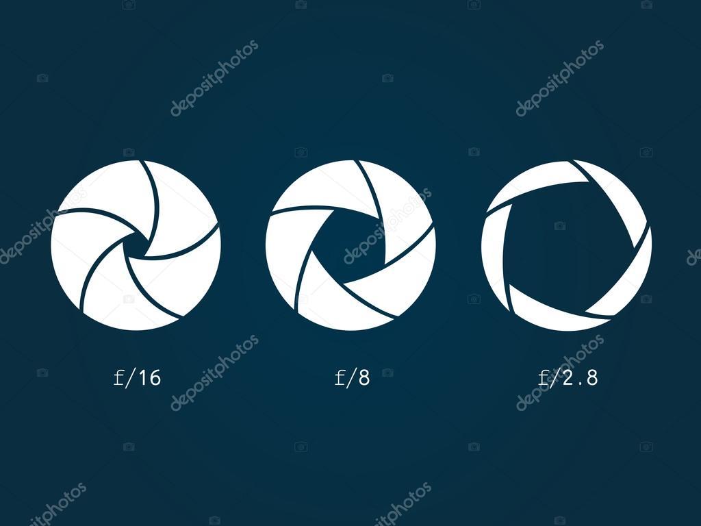 Blende-Kamera-symbol — Stockvektor © pioner2_002 #106834566