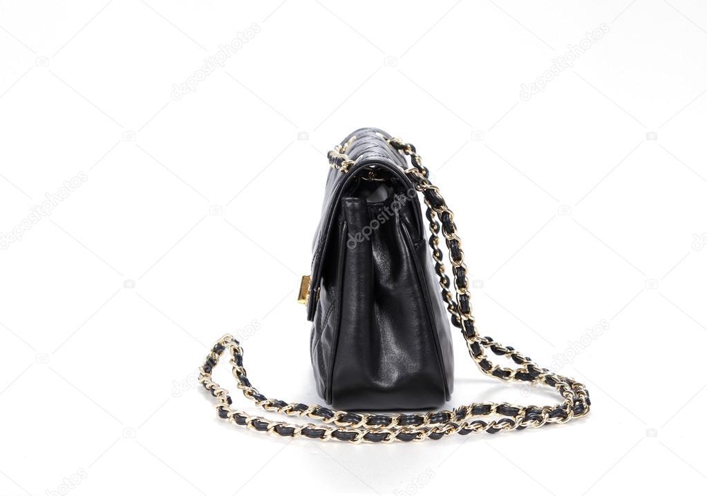zwarte tas met gouden ketting