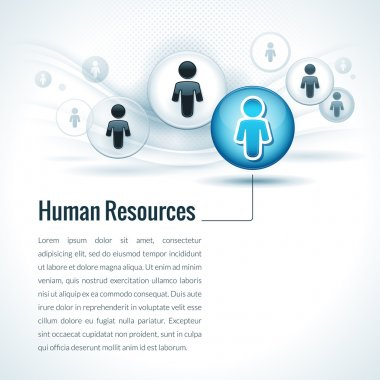 Vector Human Resources Management Concept
