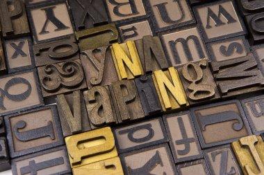 Vaping in Letterpress