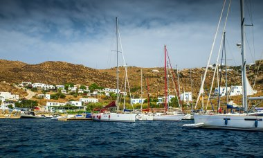 Colorful houses and yachts