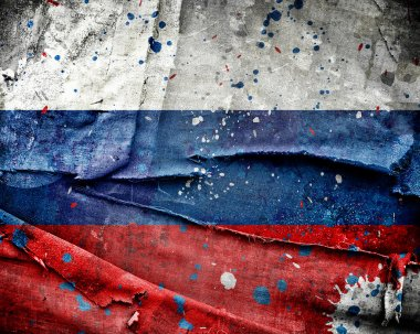 Grungy Russian flag