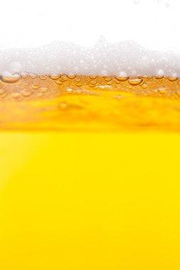 Beer bubbles in mug