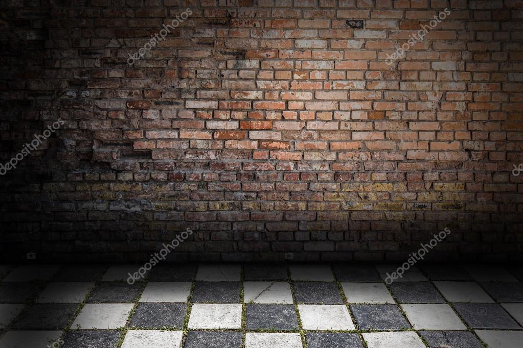 Abstract Grunge Schach Und Ziegel Wand Innen U2014 Foto Von Merrydolla